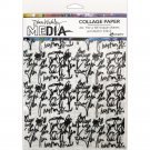 "Dina Wakley Media 7.5""x10"" Collage Tissue Paper - Just Words (20 sheets)"