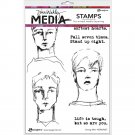 "Dina Wakley 6""x9"" Media Cling Stamps - Strong Men"