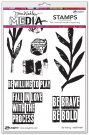 "Dina Wakley 6""x9"" Media Cling Stamps - Be Willing"