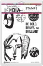 "Dina Wakley 6""x9"" Media Cling Stamps - Be Bold"