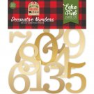 Echo Park Cardstock Die-Cuts - My Favorite Christmas Decorative Numbers with Gold Foil (53 pack)