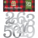Echo Park Cardstock Die-Cuts - My Favorite Christmas Decorative Numbers with Silver Foil (53 pack)