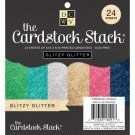 "DCWV Single-Sided 6""x6"" Cardstock Stack - Glitzy Glitter Solid (24 sheets)"