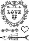 Marion Smith Designs - Love U Clear Stamp Set