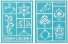 Martha Stewart Crafts - Scrolls Stencils (2 pack)