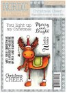 Crafters Companion Nordic Christmas A6 Unmounted Rubber Stamp - Christmas Cheer