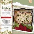 Crafters Companion Dies - Vintage Christmas Wishes