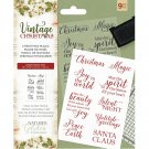 Crafters Companion Clear Stamps - Vintage Christmas Magic