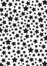 Nellies Choice A5 Plastic Mixed Media Stencil - Stars