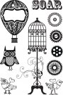 Prima Marketing Clear Stamps - Steam Punk