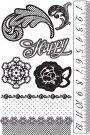 Prima Marketing Cling Stamps - Rosarian