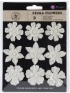 Prima Raelynn Paper Flowers with Pearl Centre - Romantic (9 pack)