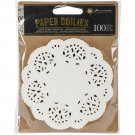 Prima Marketing 4 Paper Doilies - Round White (100 pack)