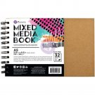 Prima Marketing Mixed Media A5 Spiral Bound Kraft Book (contains 32 Pages)