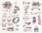 Prima Chipboard Stickers with Foil Accents - Lavender Collection