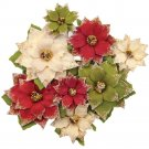 Prima Mulberry Paper Flowers - Christmas In The Country Tidings