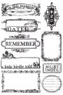 Prima Marketing Cling Stamps - #1 Dated, Remember