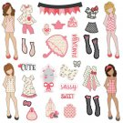 Prima Julie Nutting Ephemera Cardstock Die-Cuts - Dolls & Accessories (31 die-cuts)