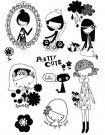 Prima Marketing Cling Stamps - Yuki Pretty Cute
