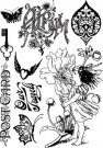 Prima Marketing Cling Stamps - Nature Garden Postcard
