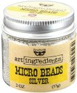 Prima Finnabair Art Ingredients Micro Beads - Silver (57g)