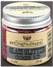 Prima Finnabair Art Ingredients Glass Glitter - Crimson Red (56g)