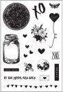 Prima Cling Stamp Set - Love Clippings