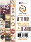 "Prima 3""x4"" Double-Sided Journaling Cards - Amber Moon (45 pack)"
