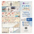 "Prima 12""x12"" Double-Sided Paper Pad - Capri (30 sheets)"