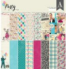 "Authentique 12""x12"" Cardstock Pad - Party (24 sheets)"