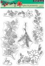 Penny Black Clear Stamp Set - Pine & Poinsettia