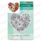 Penny Black Cling Stamps - Passionate Blooms