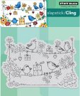 Penny Black Cling Stamp - Cheery Chirps