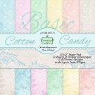 "Lemoncraft 12""x12"" Basic Paper Collection - Cotton Candy (12 papers)"