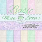 "Lemoncraft 12""x12"" Basic Paper Collection - Music Letters (12 papers)"