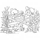 Stampavie Penny Johnson Clear Stamp - Duckling Bridge