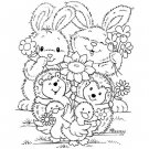 Stampavie Penny Johnson Clear Stamp - Flower Friends