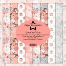 "Paper Favourites 6""x6"" Paper Pack - Coral and Grey (24 sheets)"