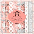 "Paper Favourites 12""x12"" Paper Pack - Coral and Grey (8 sheets)"