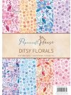 Wild Rose Sudio A4 Paper Pack - Ditsy Florals (40 sheets)