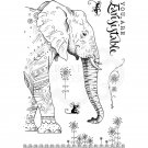 Pink Ink Designs A5 Clear Stamp Set - Elephantastic