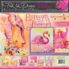 "Pink Ink Designs 12""x12"" Paper Pad - Elephants & Flamingos (24 sheets)"