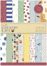 Docrafts A4 Linen Paper Pack - Country Life (24 sheets)