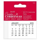 Docrafts Create Christmas 2019 Calendar Tabs (10 pack)