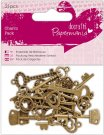 Docrafts Charm Pack - Papermania Vintage Keys (21 pieces)