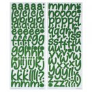 ALPHAMANIA CURLY FONT GREEN