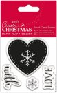 Docrafts Small Clear Stamps - Nordic Heart