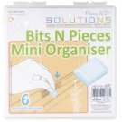DoCrafts Papermania Bits n Pieces Mini Organiser with 6 Partitions (clear)