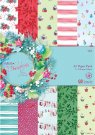 Docrafts A5 Paper Pack - At Christmas by Lucy Cromwell (32 sheets)