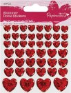 Docrafts Shimmer Heart Stickers (46 hearts)